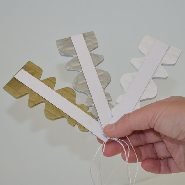 20cm paper starburst decorations gold silver white