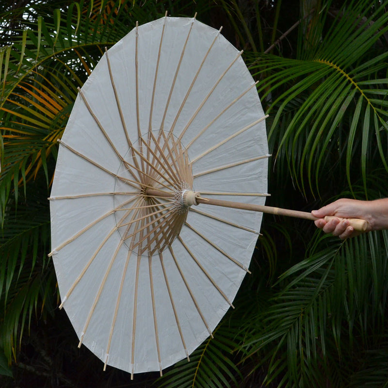 wedding paper parasol White