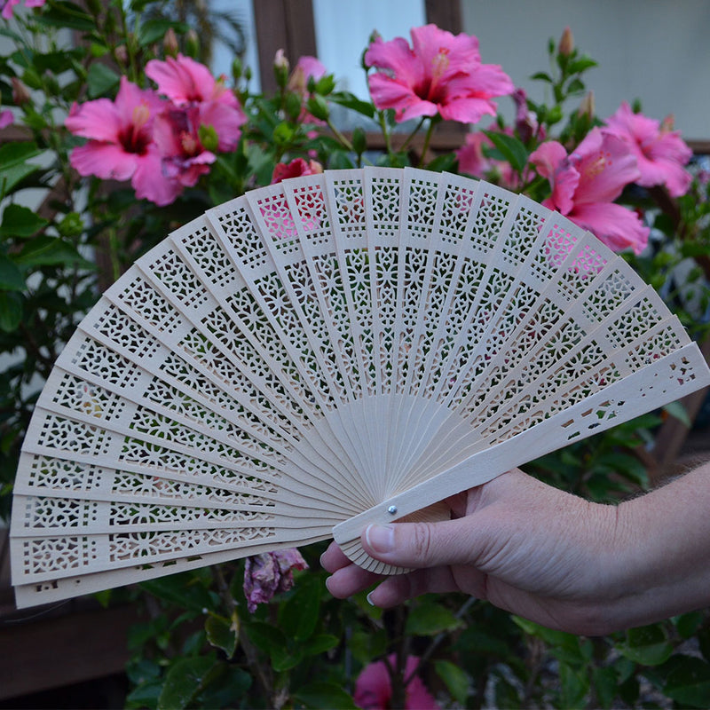 Traditional wooden fan