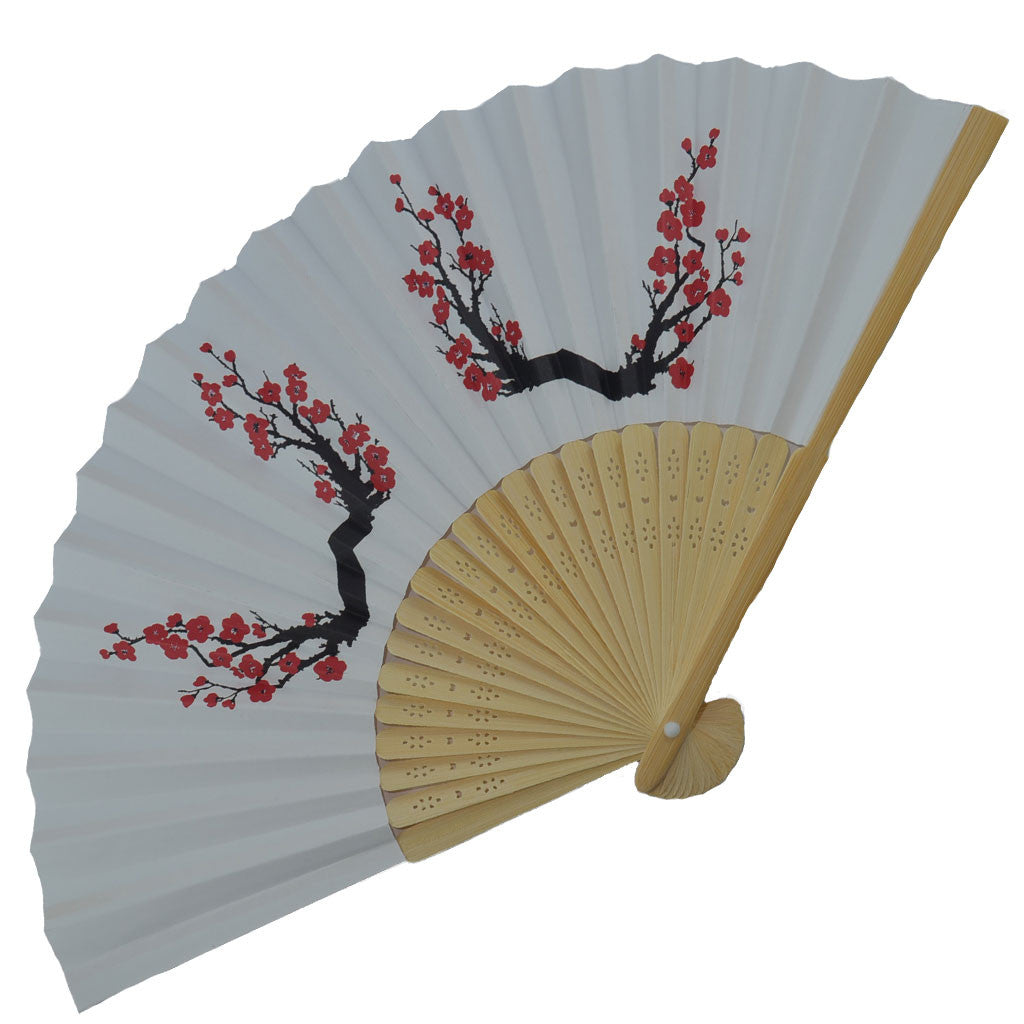 Bamboo/Paper Fan - Cherry Blossom Paper Fan