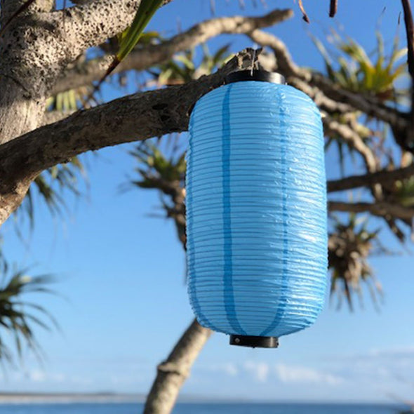 Traditional Blue Japanese Lantern (24 x 60cm) Vinyl