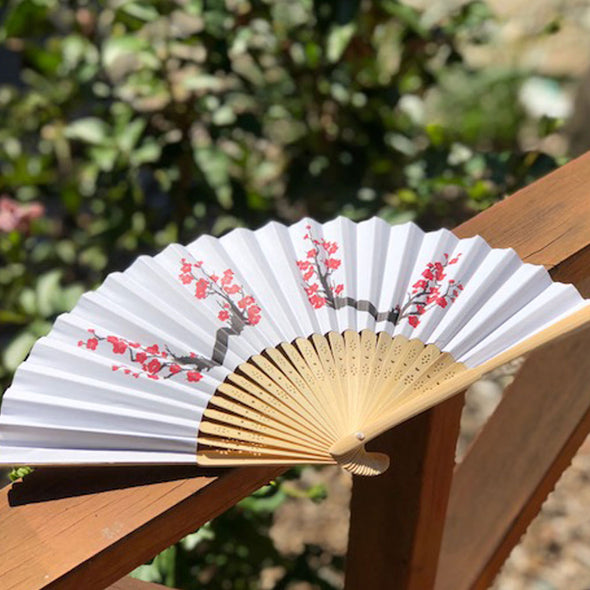 cherry blossom paper fan