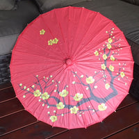 Red & Gold Cherry blossom paper parasol