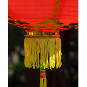 Chinese Lantern - Giant Chinese Lanterns - 2 Pack Red Nylon 50cm