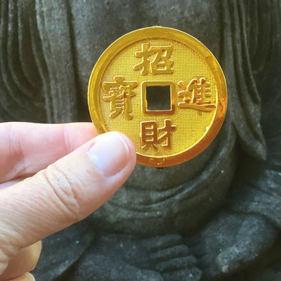lucky gold Chinese coin
