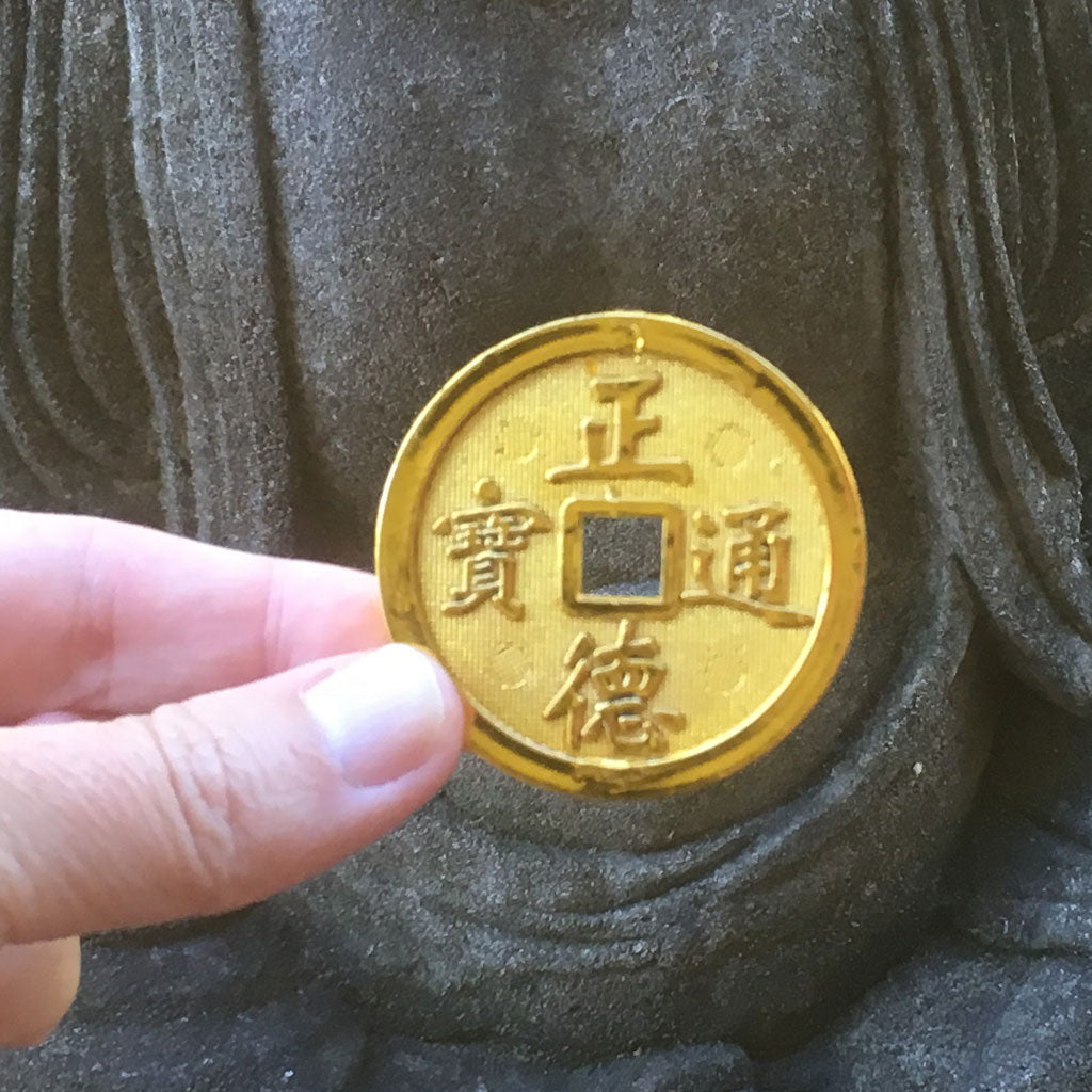 Lucky Gold Chinese Coins Pack Of 24 4 6cm Size