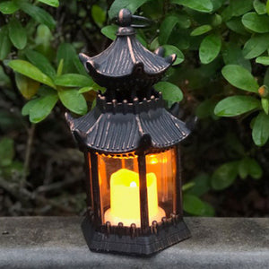 copper/black pagoda lantern