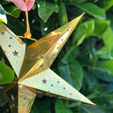 Decorative Gold Medium Star Lantern