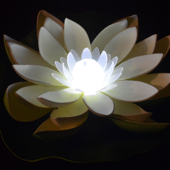 Floating Lantern - Large Deluxe LED Lotus