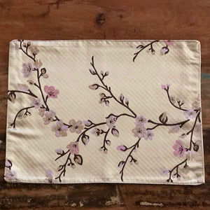 Gold Chinese Cherry Blossom Silk Table Mat