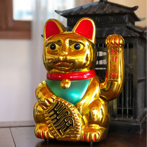 Huge Lucky Chinese Gold Cat (30.5cm)