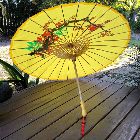 golden yellow cherry blossom parasol