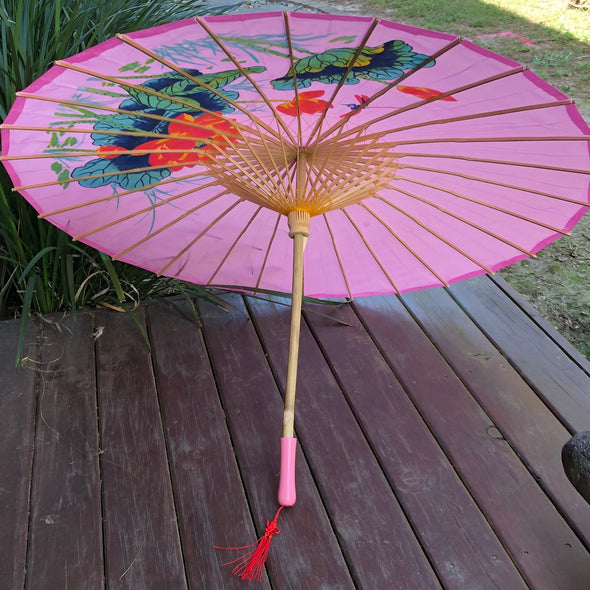 pink dragonfly parasol