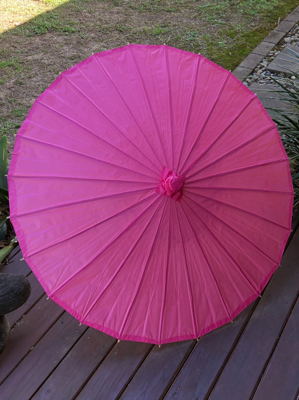 Dark Pink Wedding Paper Parasol