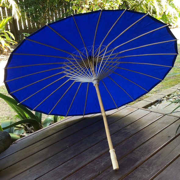Dark Blue Wedding Paper Parasol