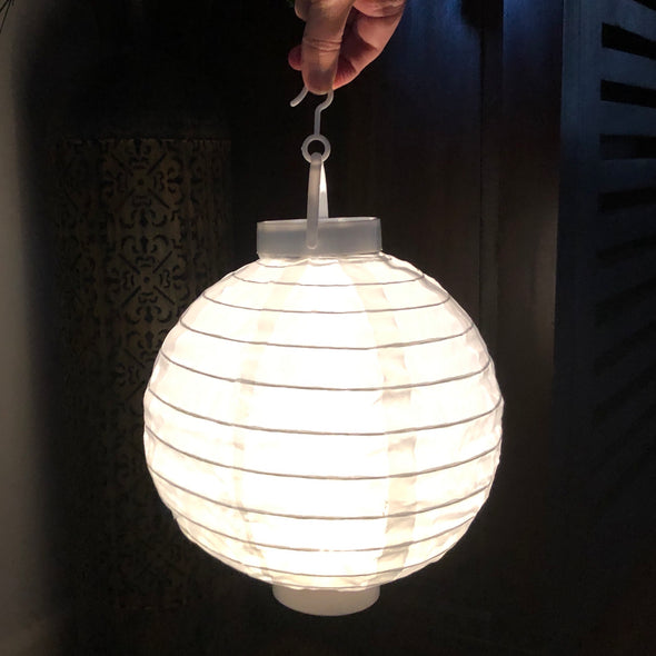 20cm Nylon LED Lantern (WARM WHITE lighting included)