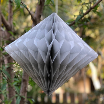 SALE - 30cm Diamond Honeycomb Paper Decoration