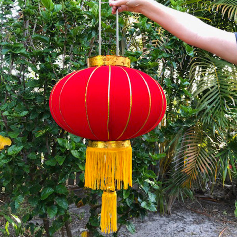Large Chinese Lanterns (red/gold) - 4 pack (43cm diametre)