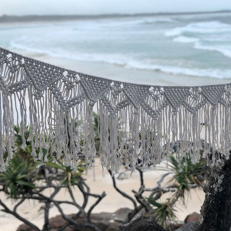 Long Macrame Bunting (223cm length)