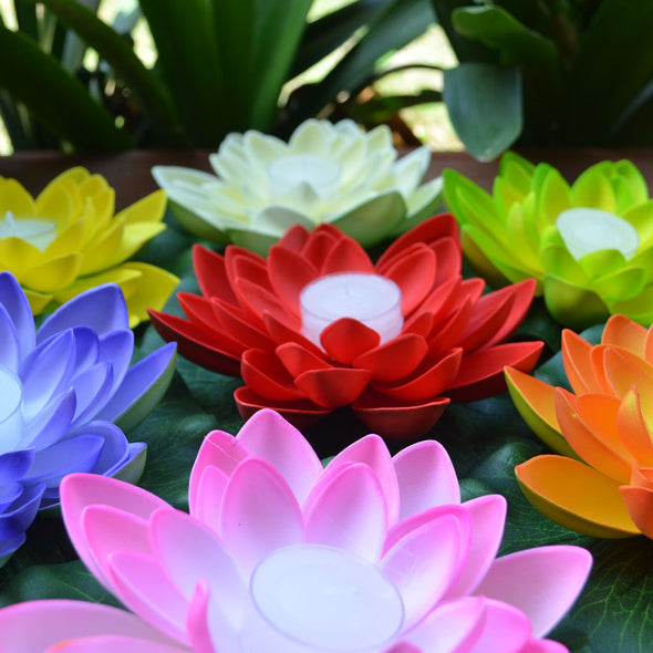 lotus flower with candle - full colour range