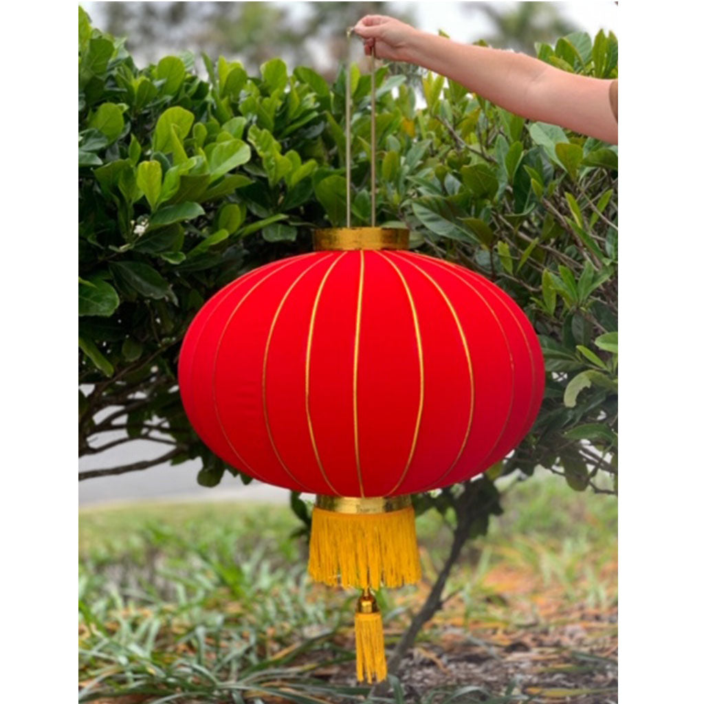 Massive Chinese Lanterns (red/gold) - 4 pack