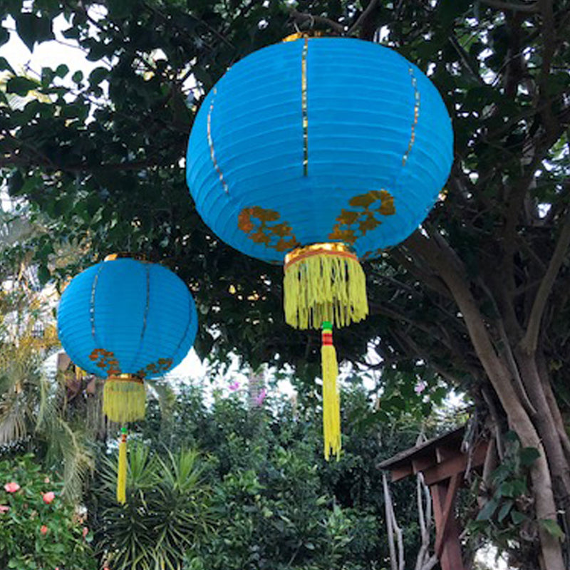 medium blue Chinese lanterns