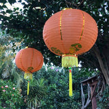 golden orange Chinese lanterns