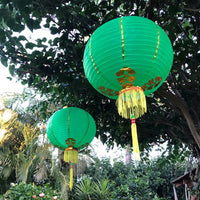 medium green Chinese lanterns