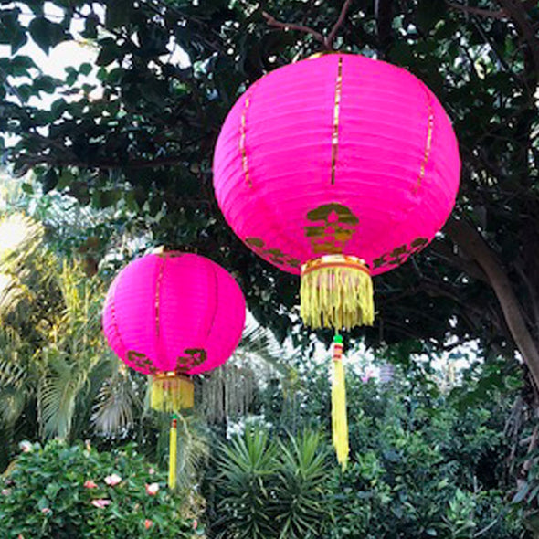 Medium-Large Chinese Lanterns (35cm) - 2 pack nylon