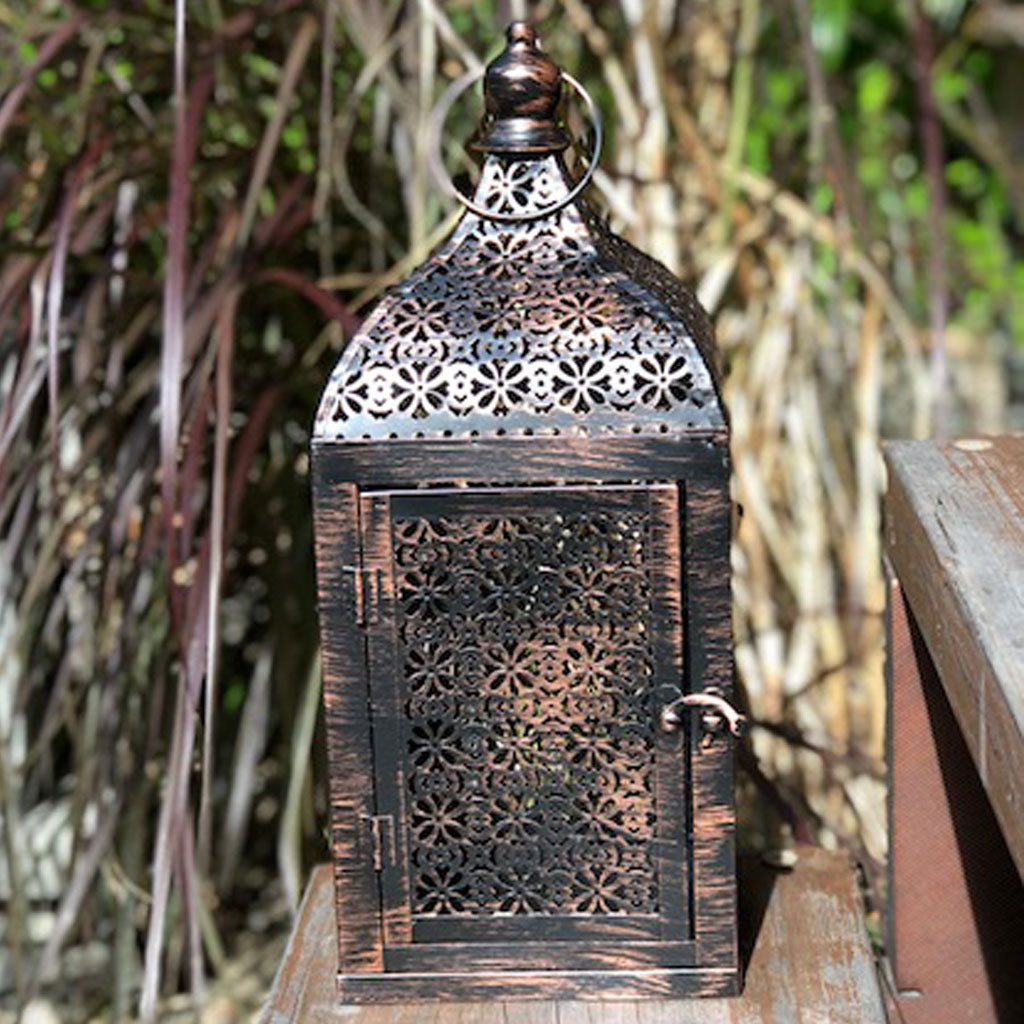 large vintage brown Moroccan Lantern