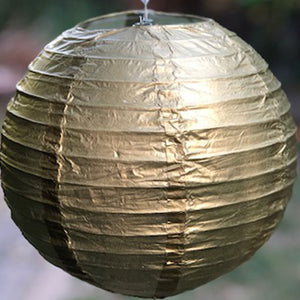 metallic gold paper lantern