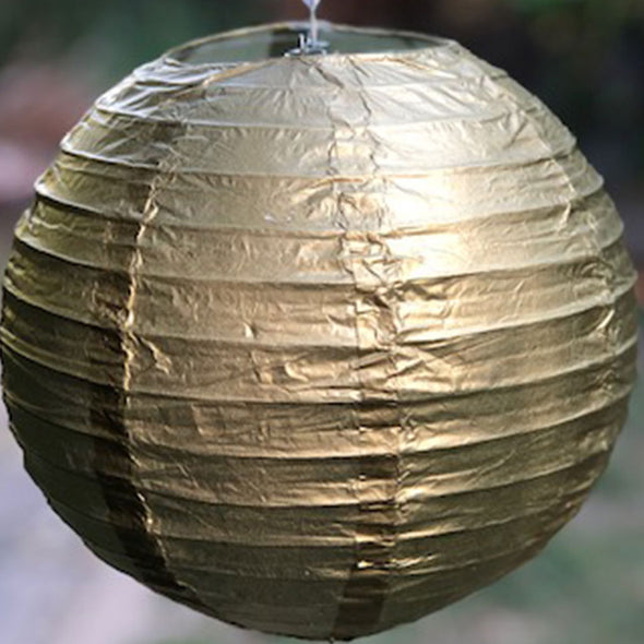 metallic paper lantern gold