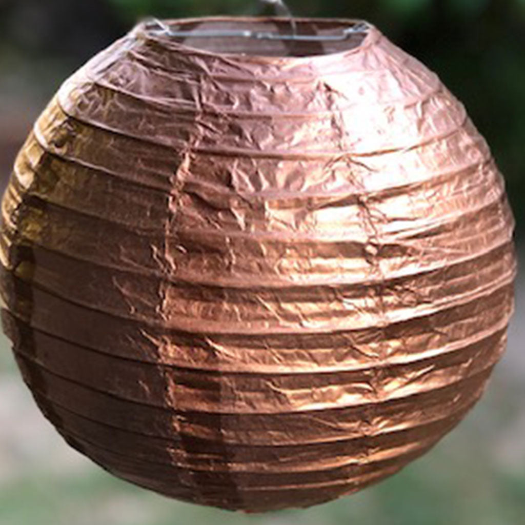 metallic paper lantern rose gold