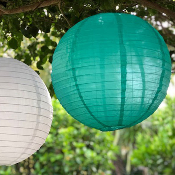 nylon lantern white and ocean green