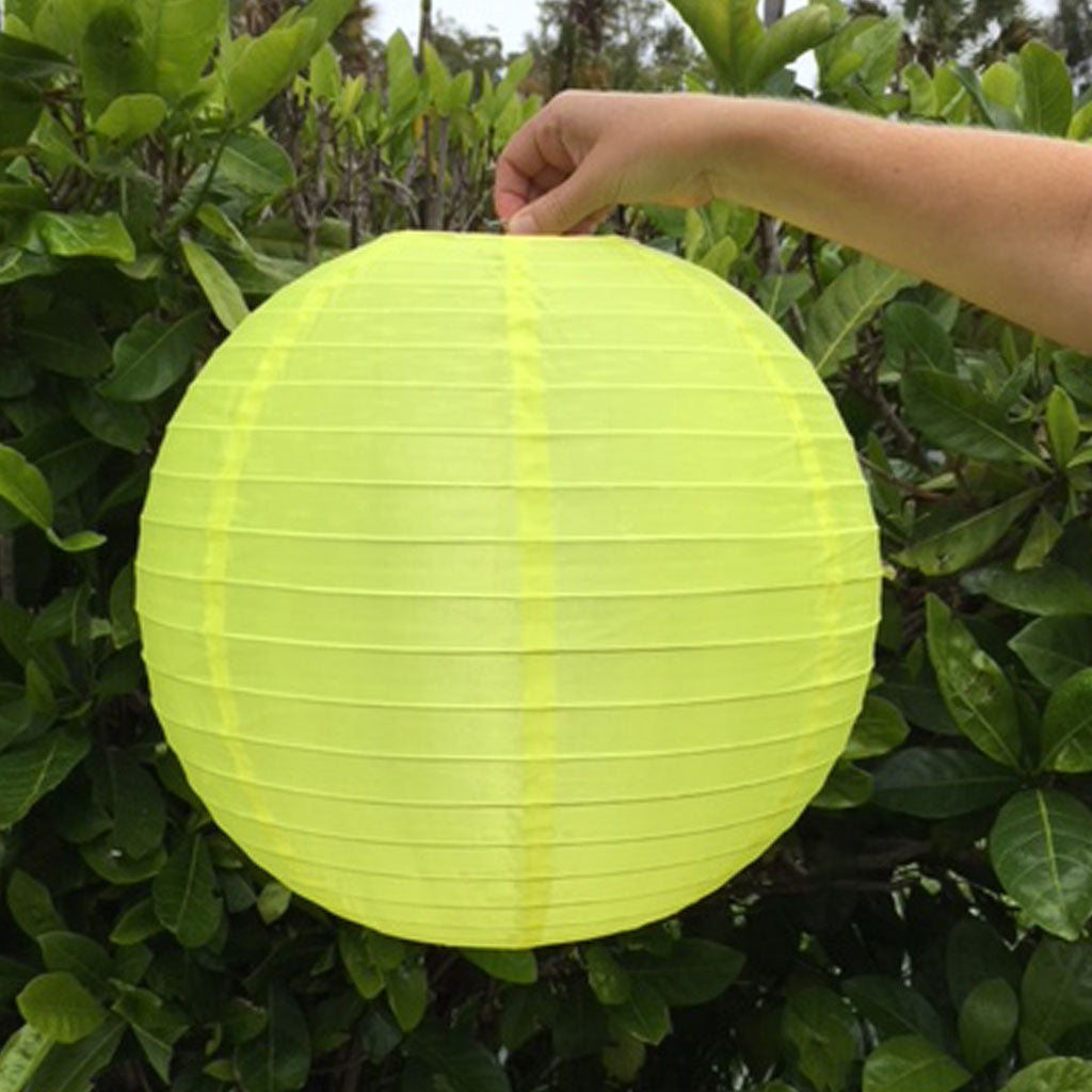 40cm yellow nylon lantern