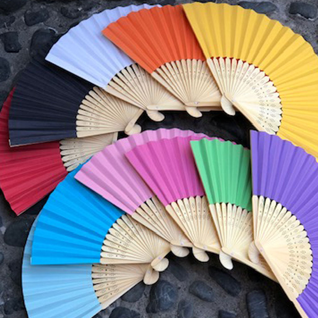 paper fan colours