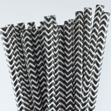 Paper Straw - Chevron Paper Straws (pack Of 25)