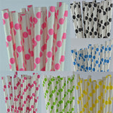 Paper Straw - Polka Dot Paper Straw - Pack Of 25