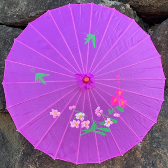 purple Chinese blossoms parasol