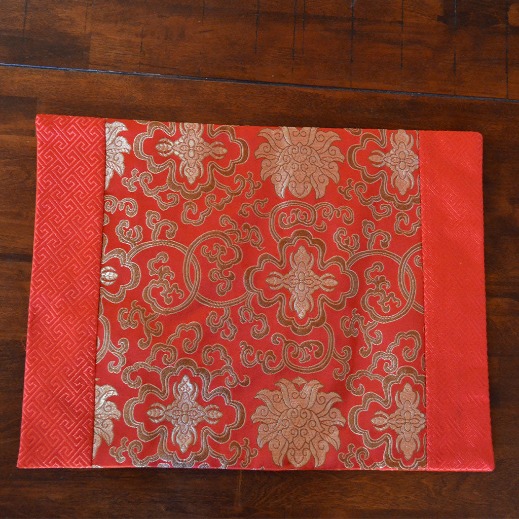 Chinese Red Silk Table Mat