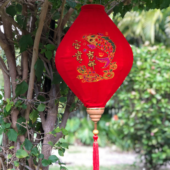 Chinese Red Velvet Lantern Fish design
