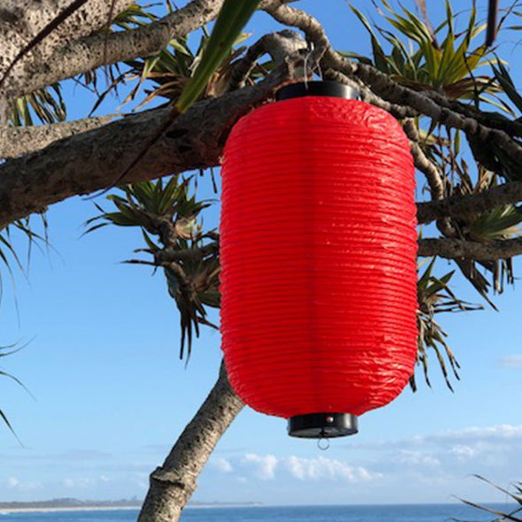 Traditional Red Japanese Lantern (24 x 60cm) Vinyl