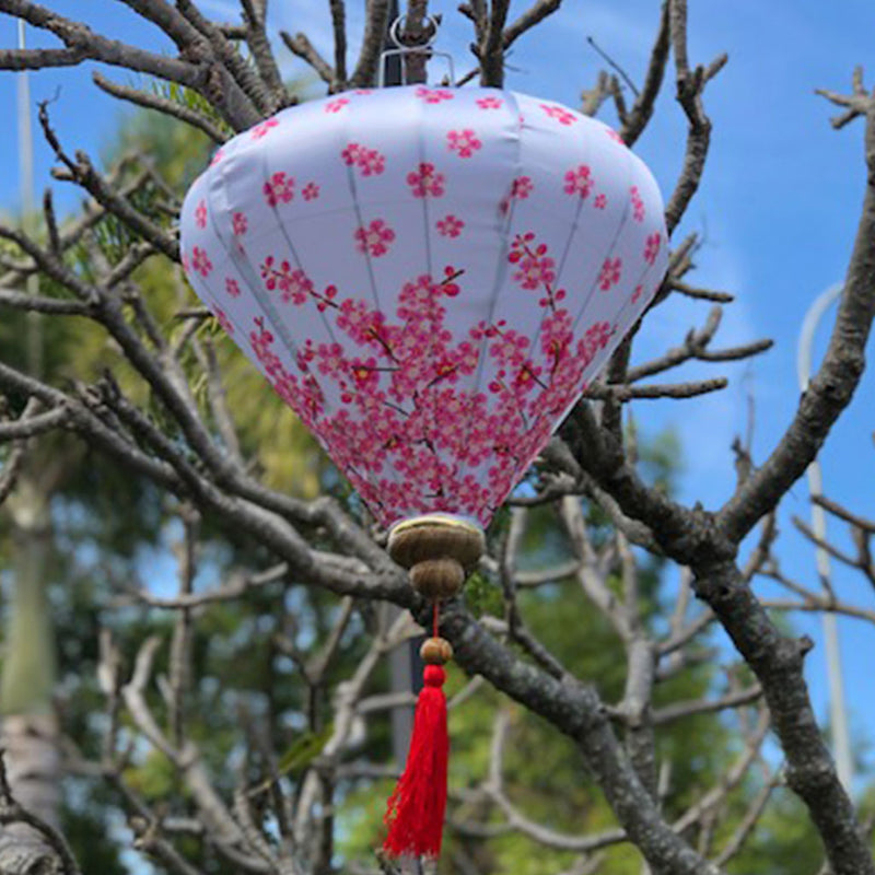 Pink Cherry Blossoms Silk Lantern