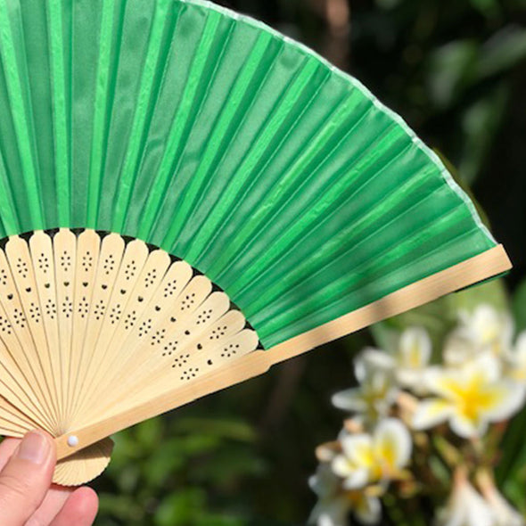 Bamboo/Silk Fan green