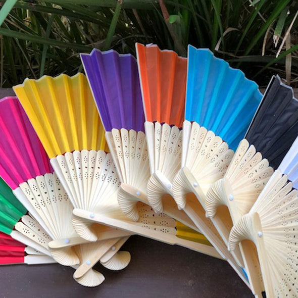 Bamboo/Silk Fan colours
