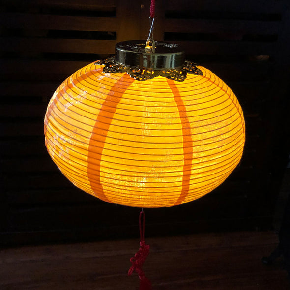 Cherry Blossom Silk LED Lantern - (WARM WHITE lighting included)