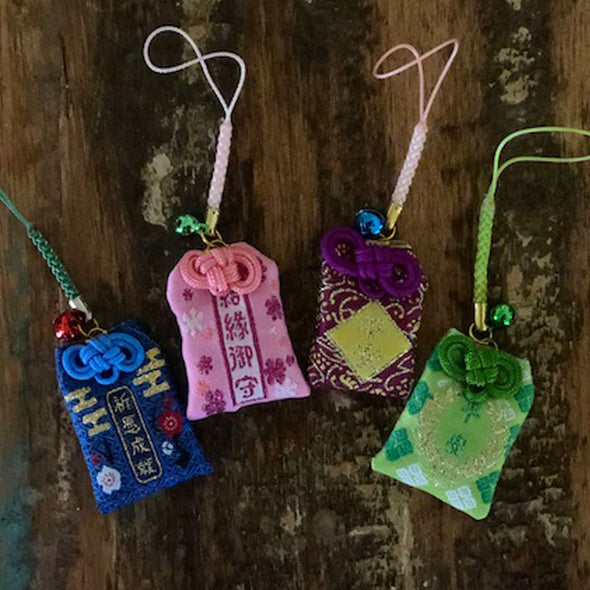 Lucky Mini Silk Hanging Trinkets - pack of 5 mixed colour/design