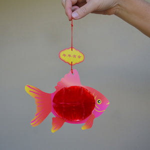 Chinese red fish lantern