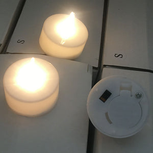 warm white led tealight candle