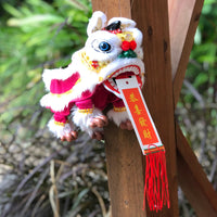 Hanging Chinese lion decoration (30cm)